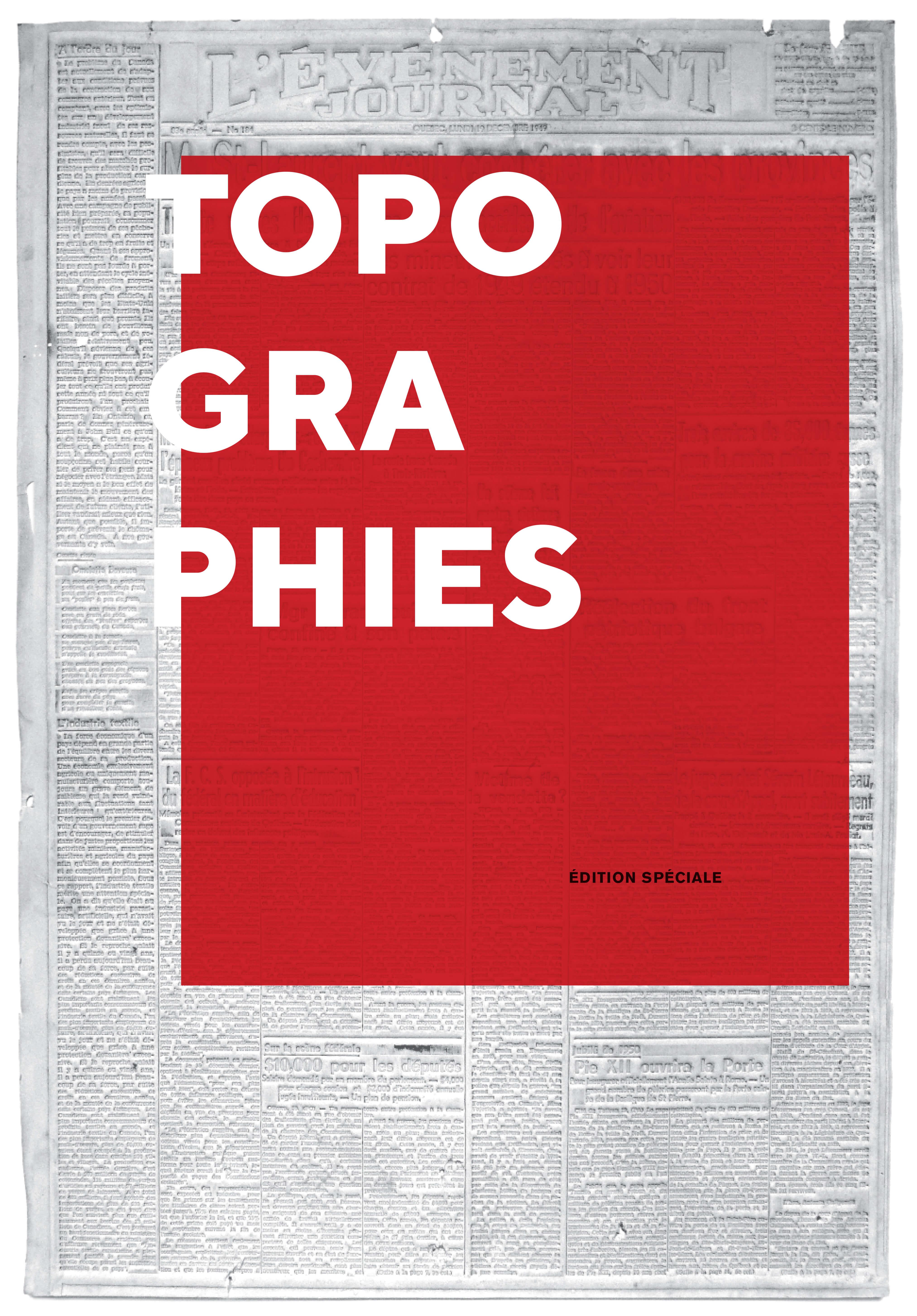Topographies - Journal couverture copie